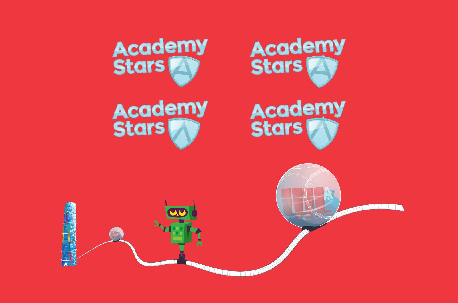 Academy Stars branding
