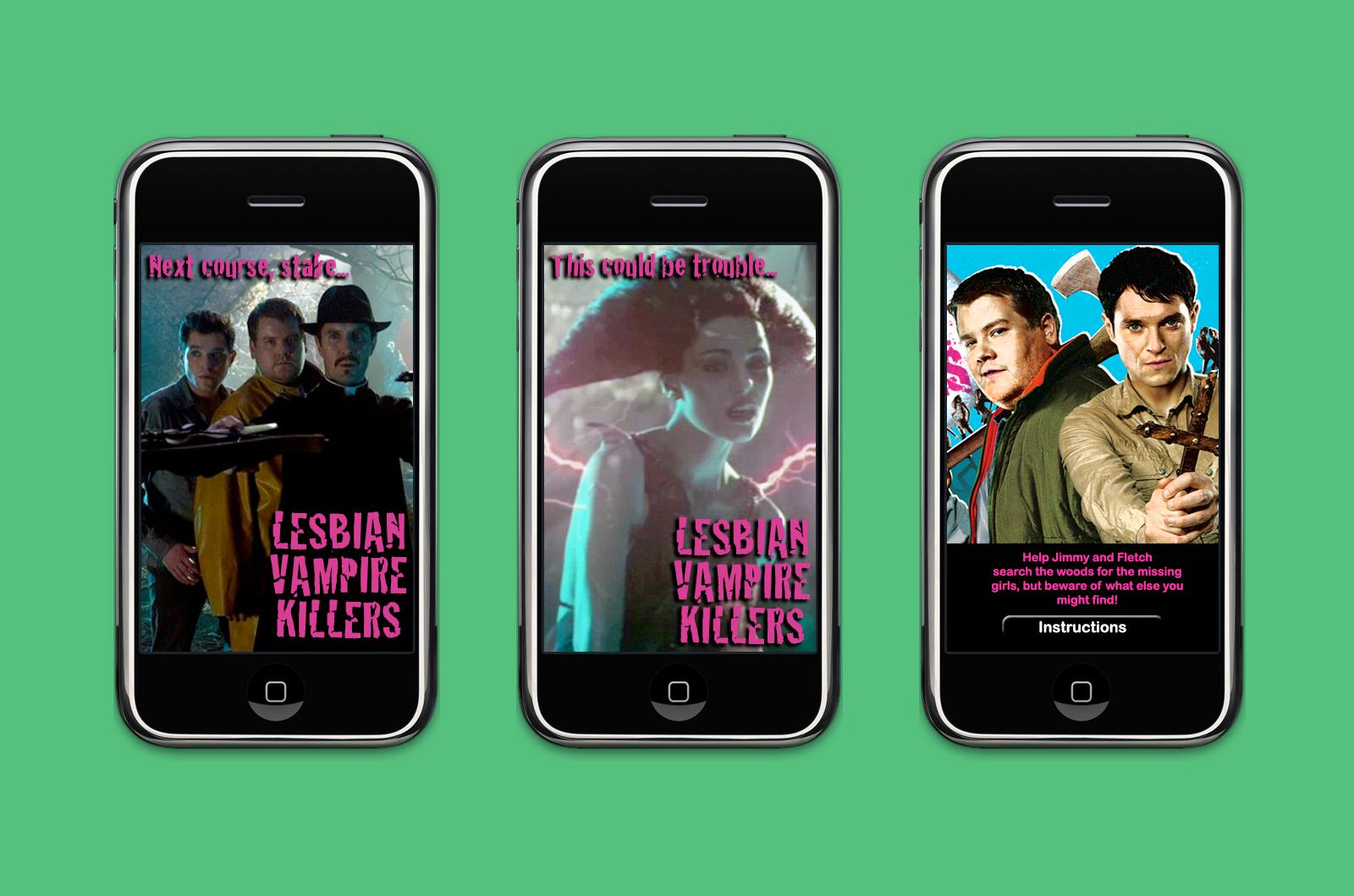Lesbian Vampire Killers app screens